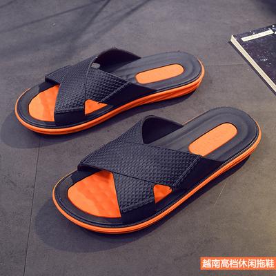 越南男鞋户外休闲雨鞋夏纯橡胶拖鞋