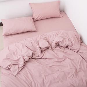 老顾客一定来!原109欧!纯棉简约枕套被套床单 纯色全棉四件套