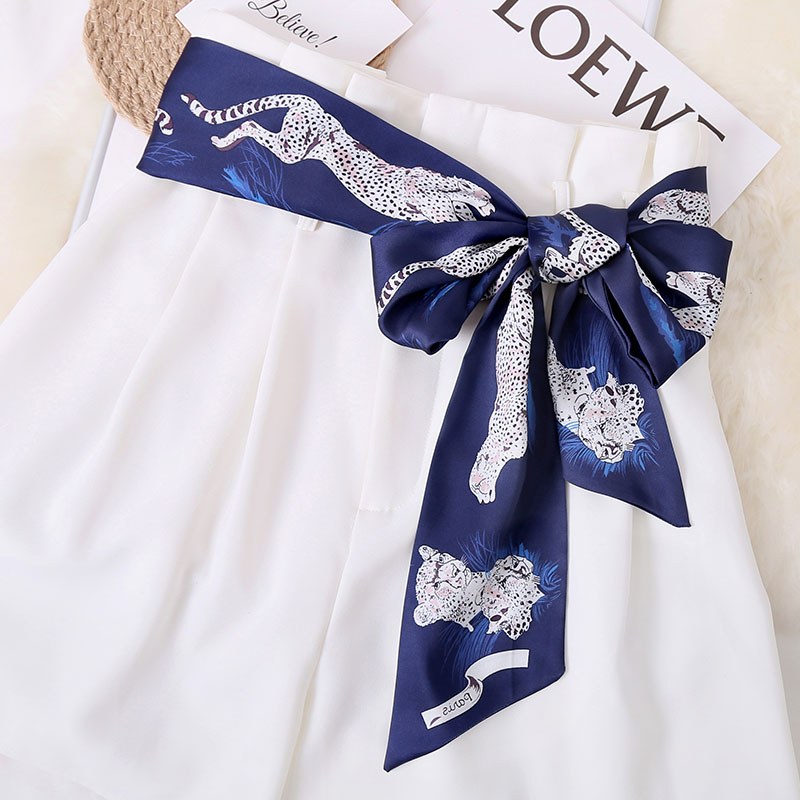 Ribbon belt belt with skirt childrens decoration waist cover wide belt cloth long dress jeans fashionable silk scarf