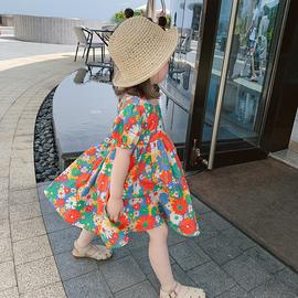 儿童小雏菊碎花裙纯棉宝宝夏装裙子夏季韩版公主裙女童洋气连衣裙