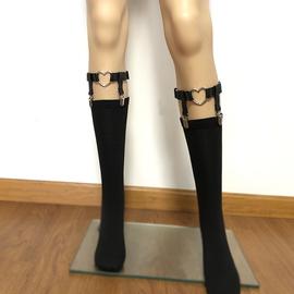 小腿袜扣袜夹腿环女日系ins腿绑带饰品吊袜带腿圈暗黑皮带小腿夹图片