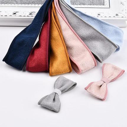 手工diy发饰材料韩系绒布麂皮绒绒面拷边布带 自制蝴蝶结发夹配件