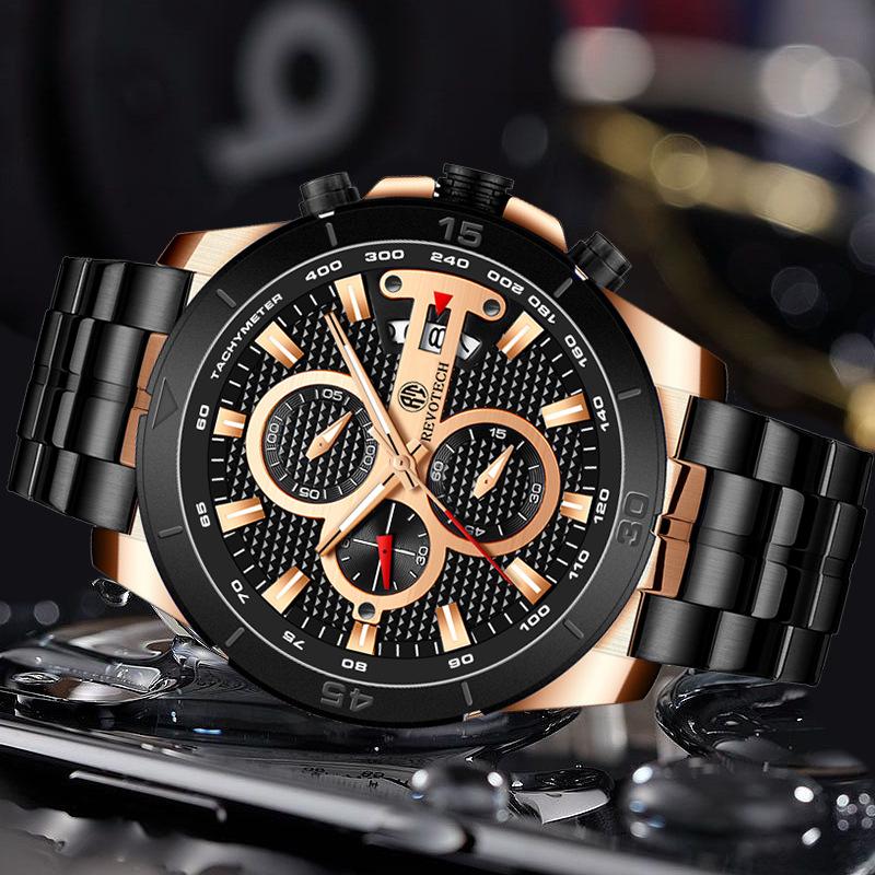 品牌新款宾卡达中国男士 防水石英表夜光男表跨境运动男手表5025G