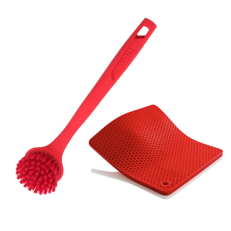 WOLL кухня монтаж многофункциональный силиконовый горшок щетка горшок подушка силиконовый монтаж второй элемент