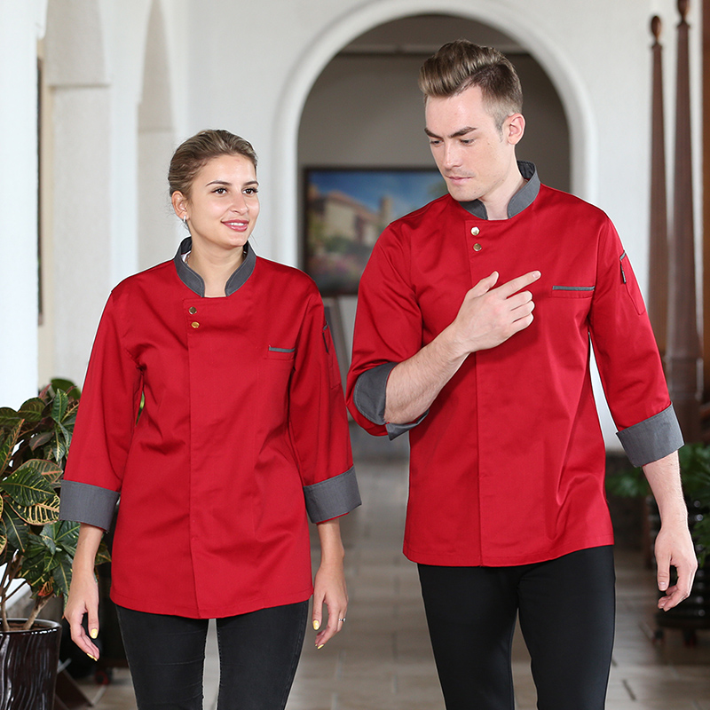 Bakery west cake maker work clothes cake shop flower mounting master uniform autumn and winter long sleeve cook clothes Hotel back kitchen work clothes
