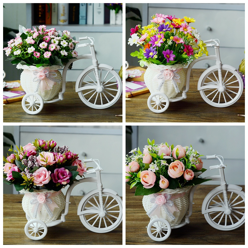 客厅绢花干花束车套家居塑料假花