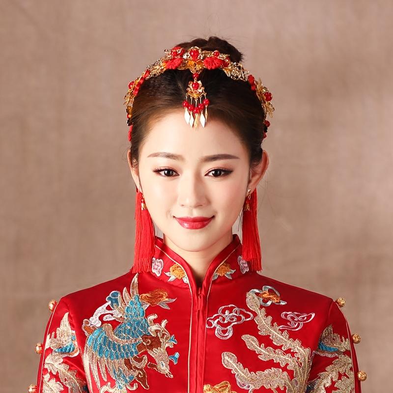 Показать Wofu новый Головной убор матушки новая коллекция Аксессуары Китайские платья аксессуары для волос дракон и феникс ювелирные изделия кимоно феникс женский