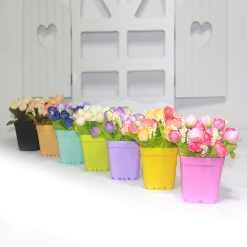 29 Цветы искусственные цветы шелк почты набор звезд небольшой чайной розы, пластиковые цветы искусственные цветы горшок Садоводство