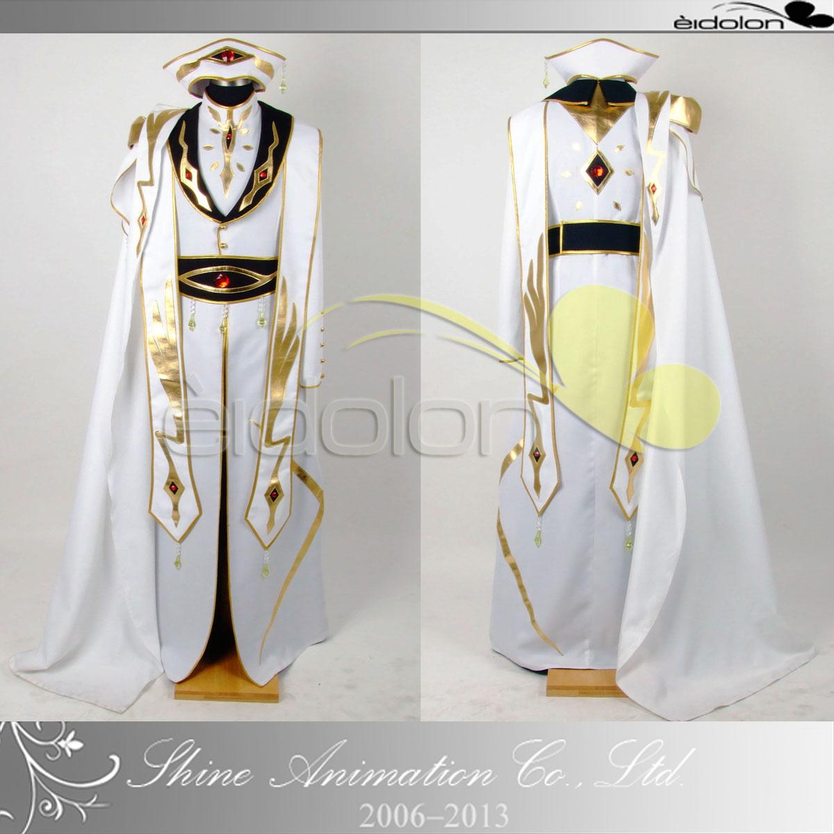 反叛的鲁鲁修 鲁鲁修皇帝装 7折促销cosplay服装实拍