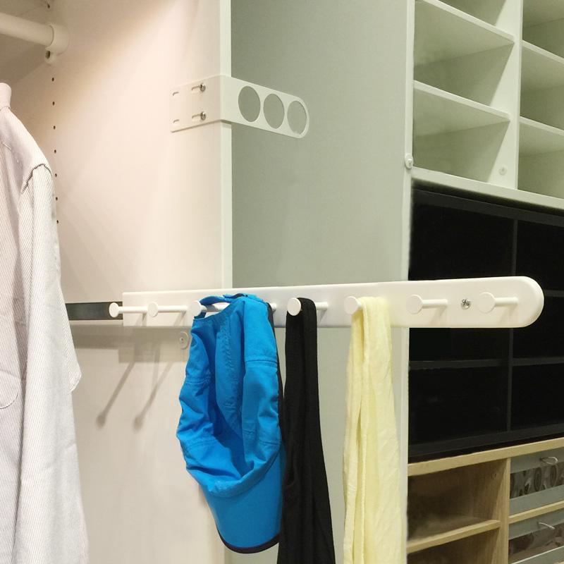 Акции гардероб аппаратные средства многофункциональный скользящий стойка шкаф скользящий полка подключить мешки кожаный ремень хранение полка хранение полка
