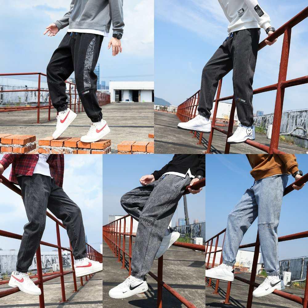 2021 autumn winter mens pants loose large mens casual Harlan pants fashion youth Leggings jeans