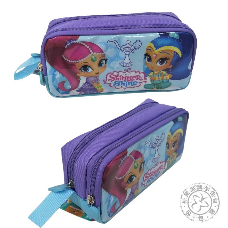 愿望精灵小姐妹笔袋小学生女双层大容量学前班幼儿园整理收纳小包