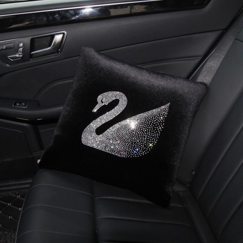 普晶 卡通天鵝汽車用品空調被車載車用車內室內空調被子抱枕被