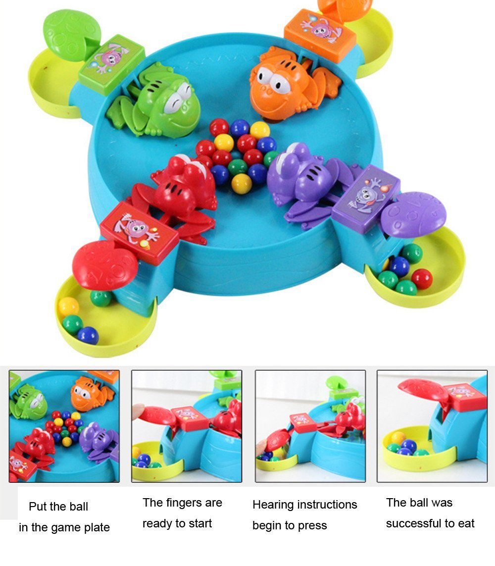 Hungry Frog Feeding Frog  Desktop Toys Frog Frenzy Game