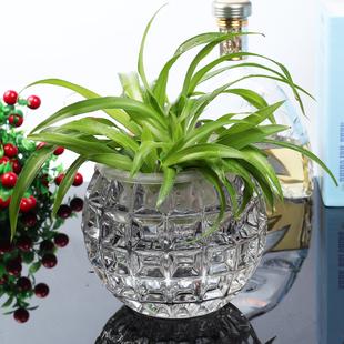 特价全国包邮水晶品质玻璃圆球工艺摆件蜡台水培玻璃花瓶圆形烛台