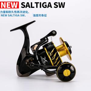 新款日本全金属高速纺车轮SW4000/6000/10000铁板轮波爬轮船钓轮