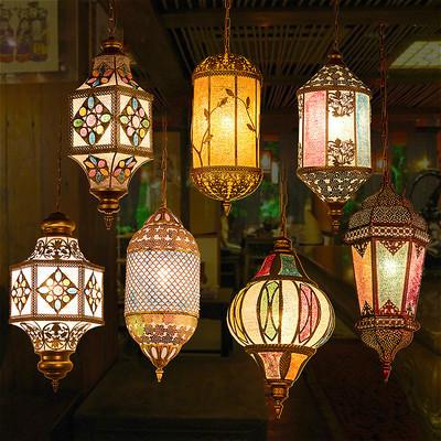 东南亚泰式创意餐厅过道复古灯吊灯
