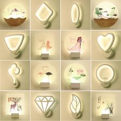 床头壁灯简约现代创意个性北欧led亚克力卧室客厅酒店背景墙灯具