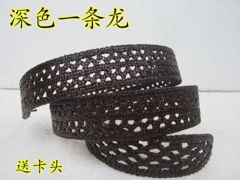 Mail Liaocheng Shengfeng cattle belt old hook clasp cattle belt, mens and womens hand woven belt