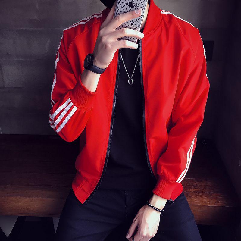 林弯弯LES小码薄款夹克男韩版XS修身休闲运动外套潮流薄款棒球服