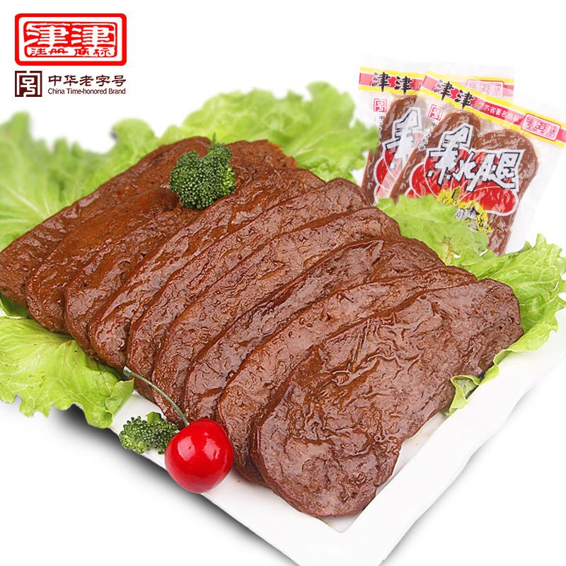 津津 素火腿 素鸡 豆制品 苏州土特产 素食小吃 豆腐干 零食70g