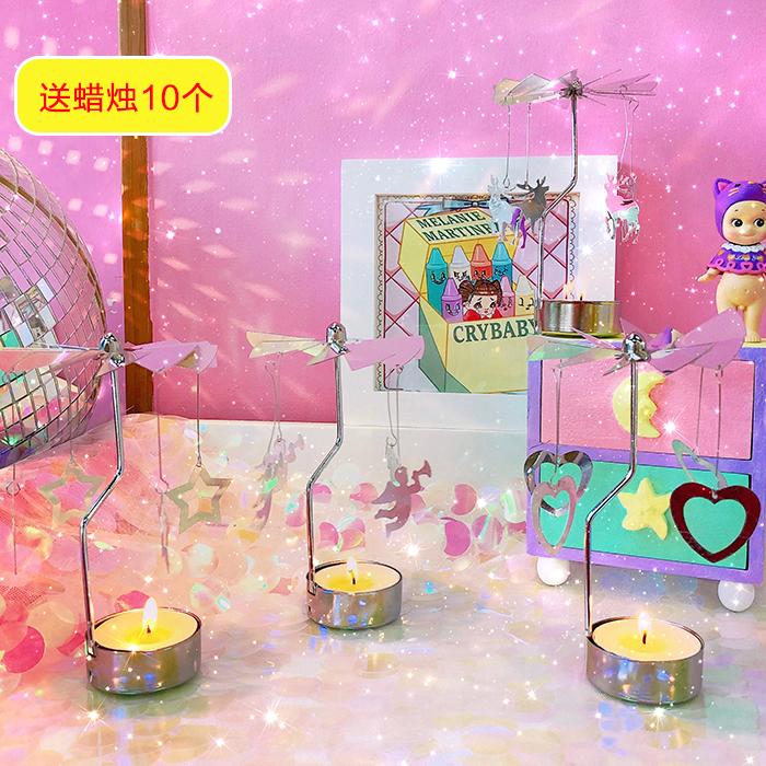 Идти фонарь континентальный милый девушка звезда романтический подсвечник вращение день рождения подарок спальня декоративный украшение свеча тайвань