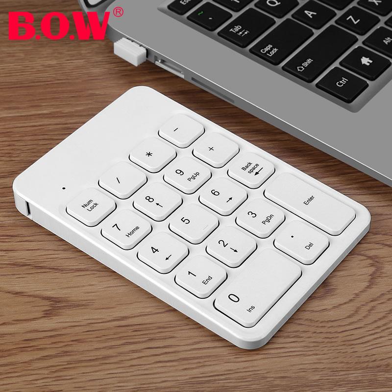 BOW航世 苹果电脑无线蓝牙数字小键盘 笔记本usb有线外接便携充电