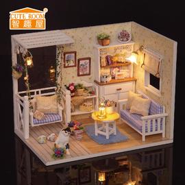 智趣屋diy小屋小猫日记手工拼装建筑模型玩具创意女朋友生日礼物图片