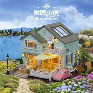 智趣屋diy小屋皇后小镇手工房子模型拼装别墅送女孩玩具创