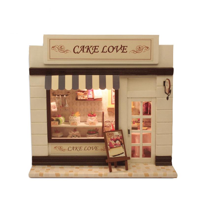 智趣屋 製作diy小屋蛋糕歐洲迷你店鋪模型生日 送男生女生