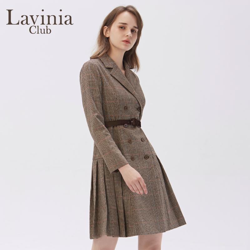 Lavinia Club/拉维妮娅2020秋冬新品收腰气质OL连衣裙Q07L52