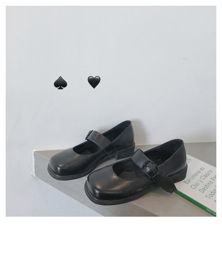 TTWuuu@ 新款JK小皮鞋女英伦夏天森女系日系百搭黑色复古玛丽珍鞋