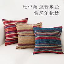 民族風靠墊套波西米亞風靠墊枕套靠背沙發椅子雪尼爾客廳抱枕套