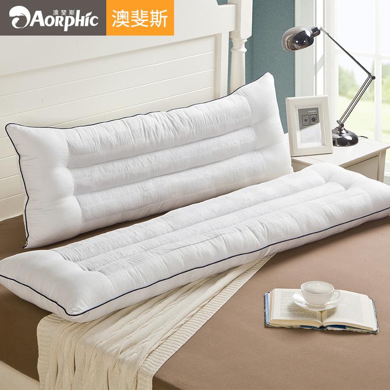 决明子双人枕头长款情侣枕一体网红长枕芯带枕套1.5米家用1.2长枕(非品牌)