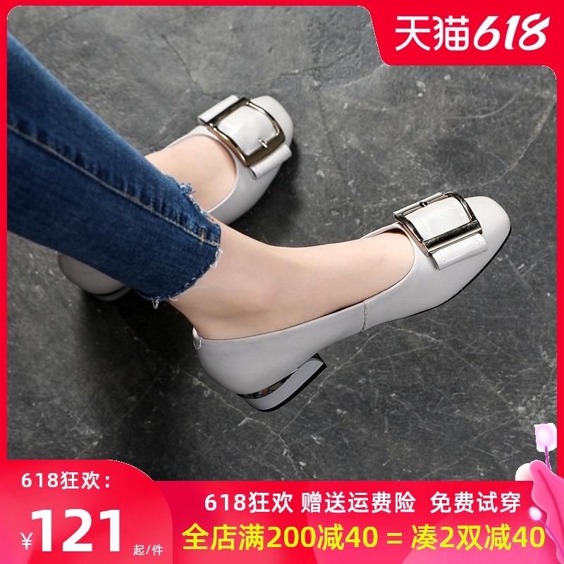 夏季单鞋女2021新款真皮平底软皮女士浅口小皮鞋大码女鞋夏41一43