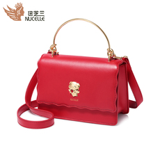 Ms. Newzland Bag, the new fashionable Korean version of the sloping piggy bag, fashionable red baggage, handbag and shoulder bag