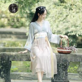 月芝猫【平乐曲】春日常古风汉服女长裙女夏仙改良连衣裙子汉元素