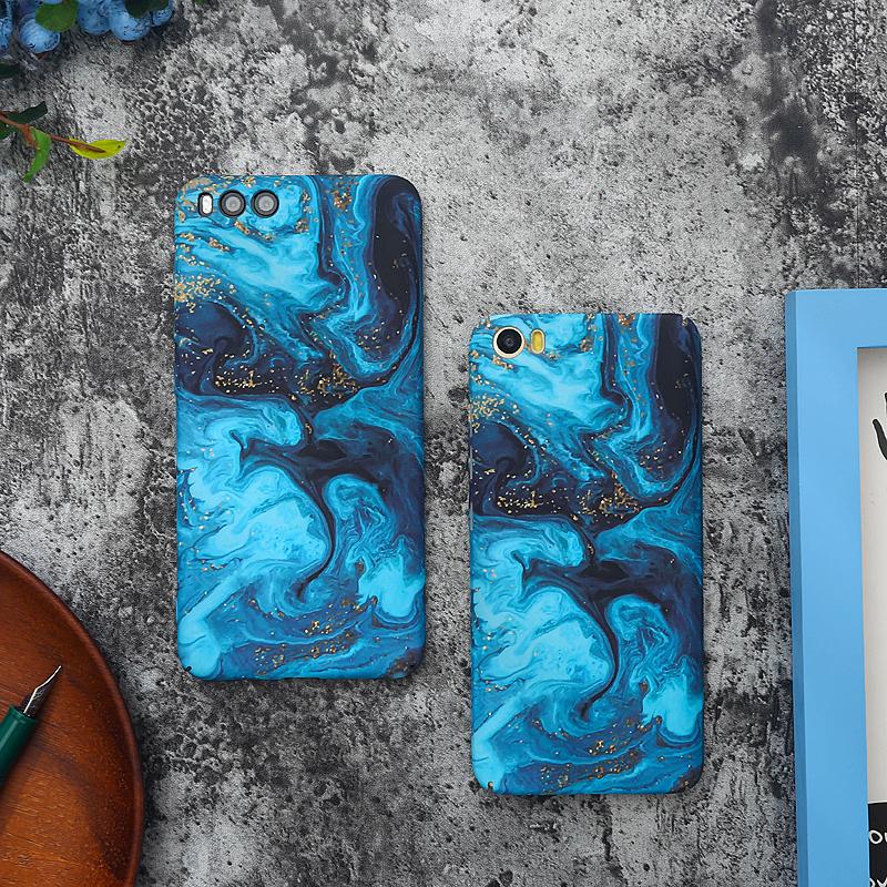 蓝色小米8原创note3磨砂6x手机壳