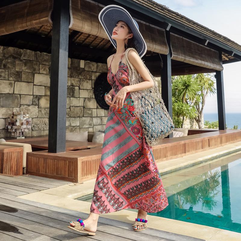 巴厘岛仙女夏海边度假性感沙滩裙