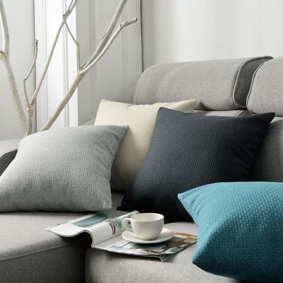 简约亚麻抱枕客厅沙发靠垫床头靠枕椅子靠背办公室腰枕抱枕套定制