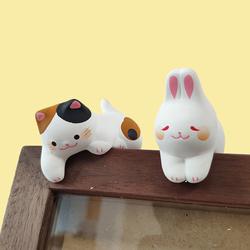 日式小摆件办公桌面汽车载装饰品日本创意可爱猫咪兔子生日礼物女