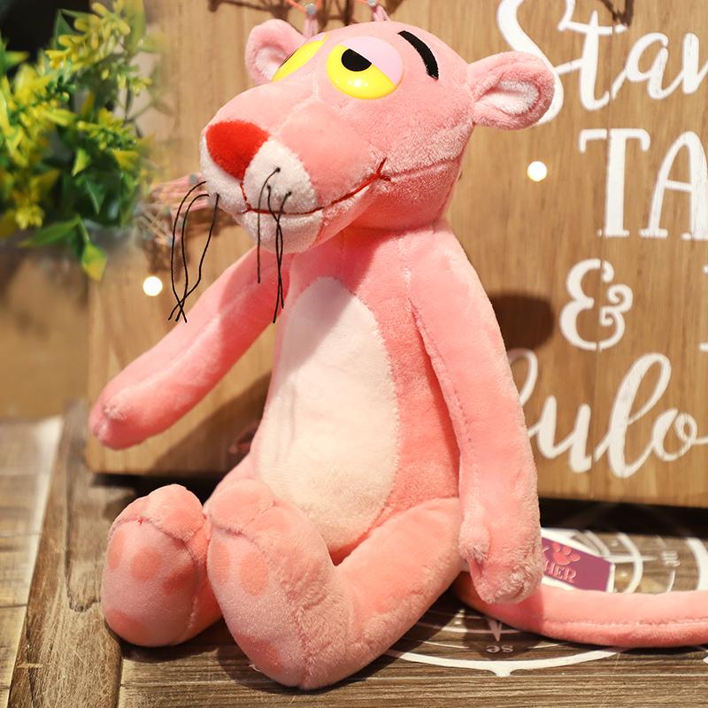 正版粉红豹毛绒玩具可爱粉红顽皮豹公仔小号布娃娃生日圣诞节礼物