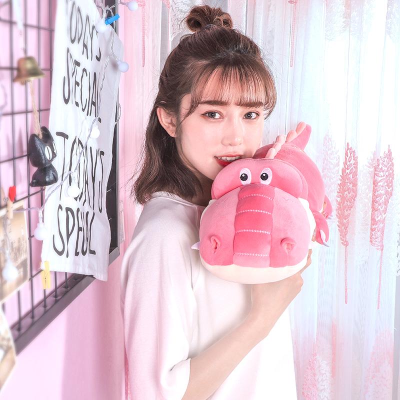 鳄鱼公仔可爱布娃娃恐龙毛绒玩具女孩睡觉抱着的玩偶韩国女生抱枕