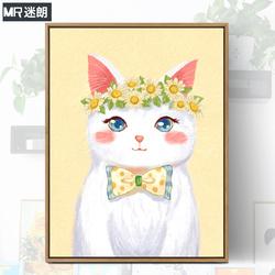 数字油画diy客厅风景花卉动漫手工填充减压手绘涂色油彩画装饰画