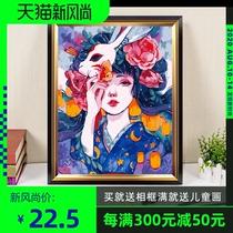手工绘欧式填充装饰画风景植物花卉填色画油彩画diy数字油画宅美