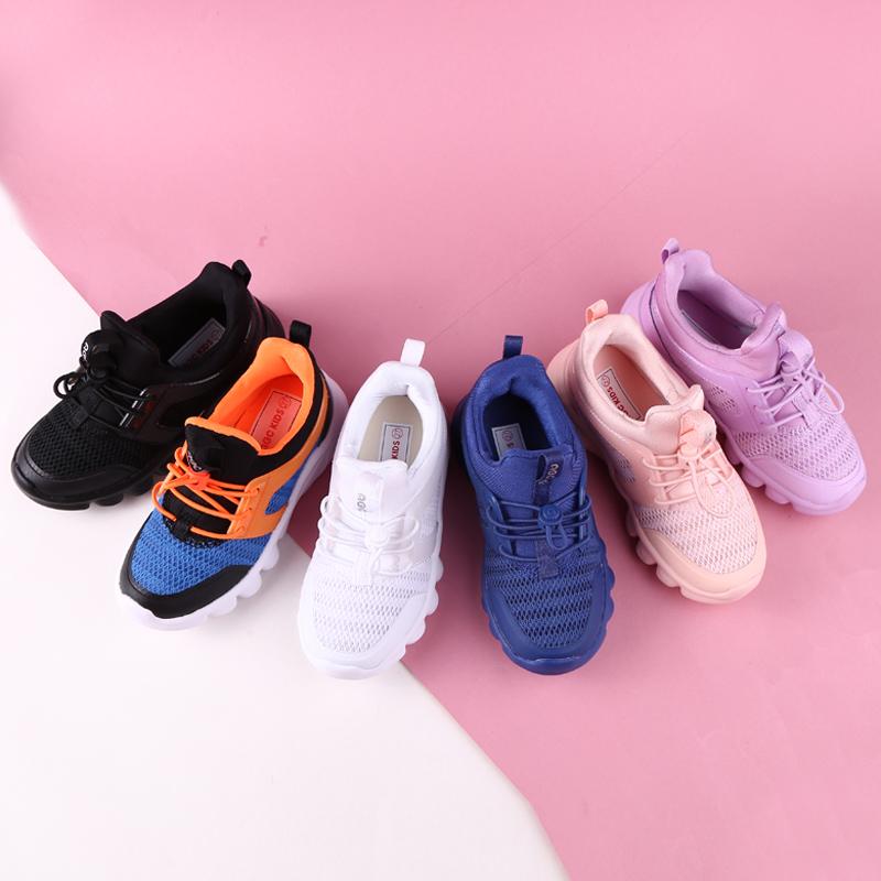 abc男女童鞋19春季新款软底透气网面运动跑鞋Y91120203Y91220203