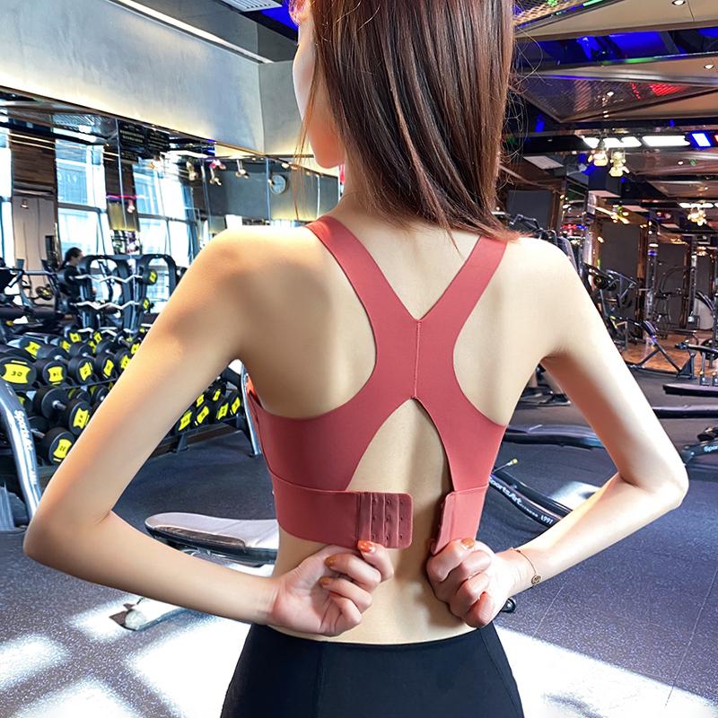 搭扣无痕运动内衣女防震聚拢定型瑜伽背心式专业速干跑步健身bra