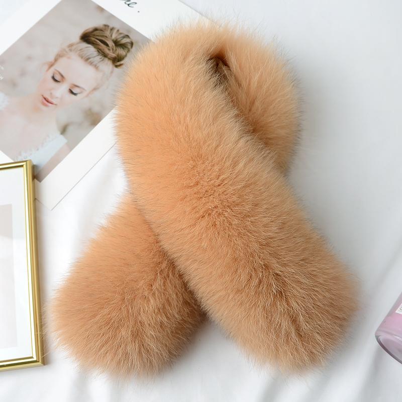 新款整皮狐狸毛领子皮草围巾通用围脖女毛毛围巾冬季保暖毛领单买