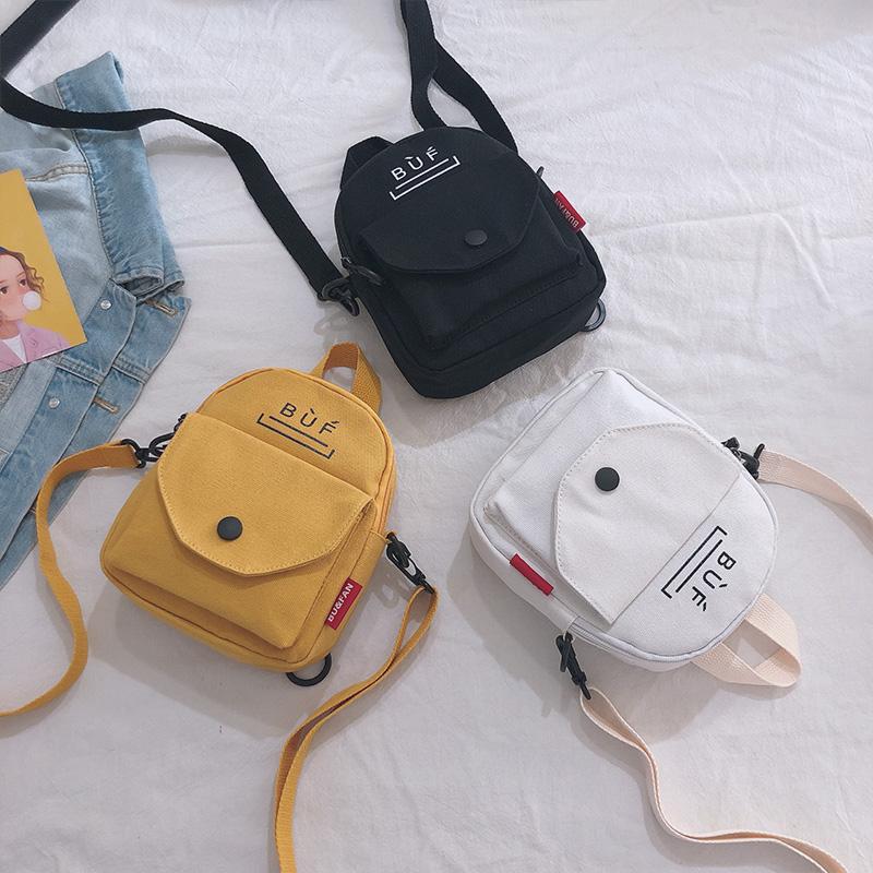 网红双肩包两用小包包女新款2019斜挎ins百搭韩版洋气学生帆布包