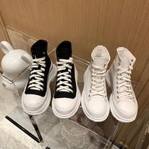 ulzzang新款高帮帆布鞋女学生韩版百搭原宿2018回力鞋女帆布鞋女